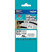 "Brother TZEFX231 Label Maker Tape, 0.47""W, Black On White"