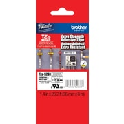 "Brother® TZe-S261 P-Touch® Label Tapes, 1.5"" Black on White with Extra Strength Adhesive"
