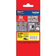 "Brother TZe-S661 1.5"" P-Touch Label Tapes Black on Yellow with Extra Strength Adhesive"