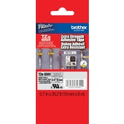"Brother® TZe Series Tape, 3/4"", Black Lettering on Matte Silver Label Tape"