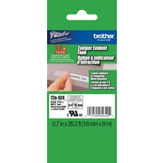 "Brother TZe-SE4 3/4"" P-Touch Tamper-Evident Label Tape, Black on White"