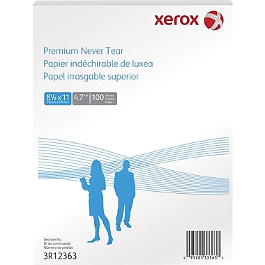 "Xerox® Revolution™ Premium Never Tear™, 8 ½"" x 11"", 100/Pack"
