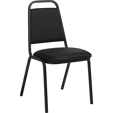 Global® Hospitality-Style Stacking Chair, Black
