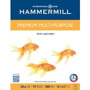 """Hammermill® Premium Multipurpose Paper, 8 1/2"""" x 11"""", 20lb., 500/Ream"""
