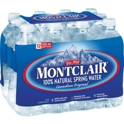 Montclair Spring Water, 500ml Bottles, 12-Pack