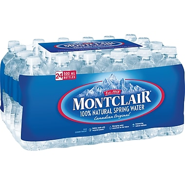 Montclair Spring Water, 500ml Bottles, 24-Pack