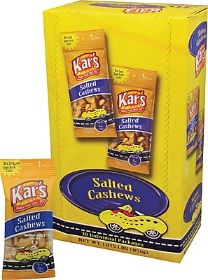 Kar's Salted Cashews, 1 oz. bag, 30/Ct