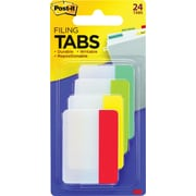 Post-it® Durable Filing Tabs, Assorted, 24/Pack