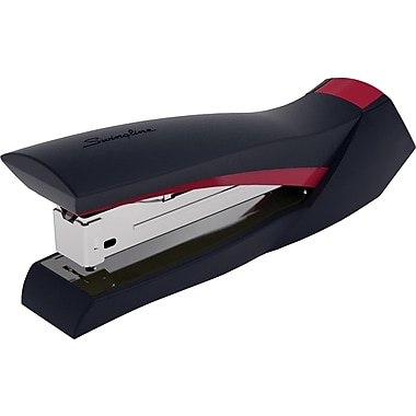 Swingline® SmoothGrip™ Stapler, Desktop, 20 Sheets, Black with Red Accents