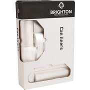 "Brighton Professional™ Low Density Coreless Can Liners, 55-60 Gallon, 1.3 mil, Clear, 38"" x 58"", 100/Bx"