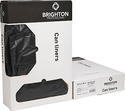 Brighton Professional, Accufit Trash Bags, 32 Gallon, 33x44, Low Density, 0.9 Mil, Black, 100 CT, 5 rolls of 20 bags per roll