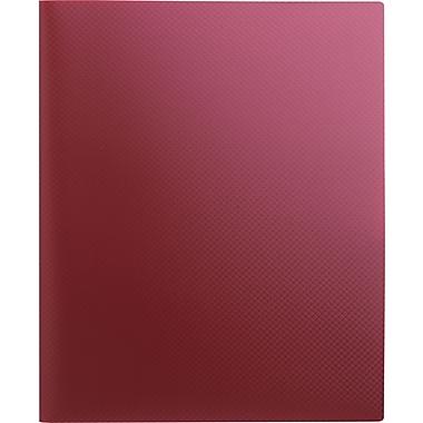 Staples® Textured Poly 2-Pocket Folder, Burgundy