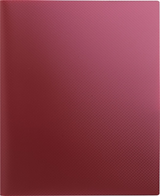 Staples® Textured Poly 2-Pocket Folder, Burgundy