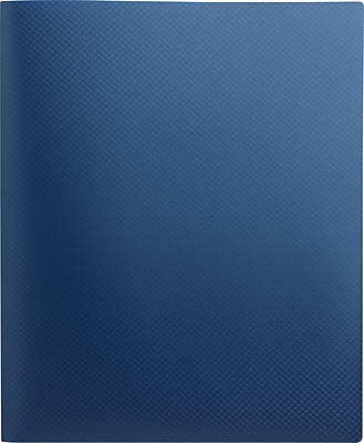 Staples® Textured Poly 2-Pocket Folder, Blue