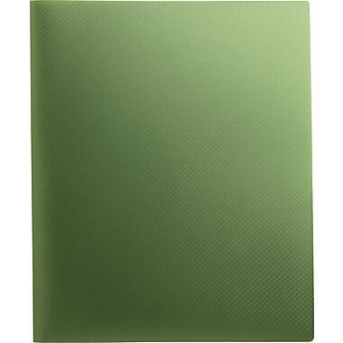 Staples® Textured Poly 2-Pocket Folder, Green
