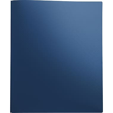 Staples® Textured Poly 2-Pocket Folders with Fasteners, Blue