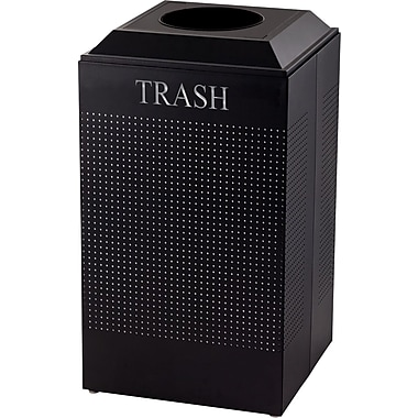 Rubbermaid® Designer Line Silhouette Trash Container, Black