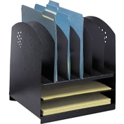 Safco 3166 Combination Desk Rack 6 Upright and 2 Horizontal, Black