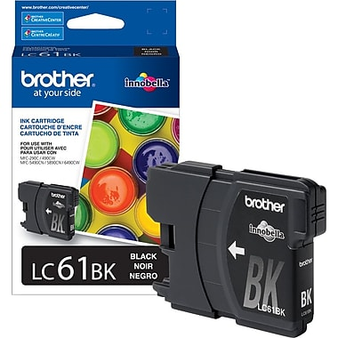 Brother – Cartouche d'encre noire LC61 (LC61BKS)