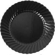 """WNA Classicware™ 10 1/4"""" Plastic Plates, Black, 144/Ct"""