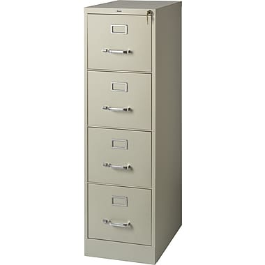 Staples 4 Drawer Letter Size Vertical File Cabinet, Putty (22 Inch)