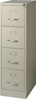 Staples  4-Drawer Letter Size Vertical File Cabinet, Putty (22-Inch)