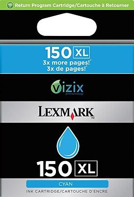 Lexmark 150XL Cyan Ink Cartridge (14N1615), High Yield