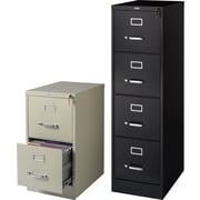 Staples 2-Drawer Letter Size Vertical File Cabinet, Black (22-Inch)