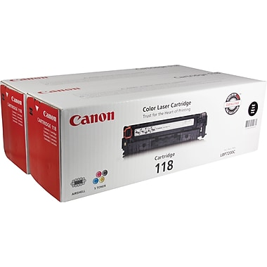 Canon® 118 Black Toner Cartridge, Twin Pack (2662B004)