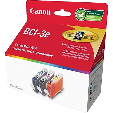 Canon® BCI-3e Colour Ink Tanks, Combo Pack (4480A255)