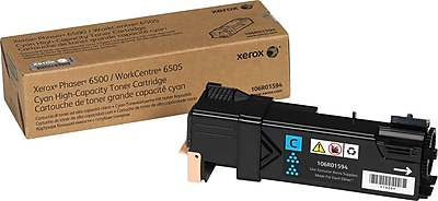 Xerox Toner Cartridge, Cyan, High Yield (106R01594)