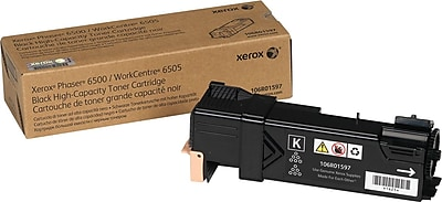 Xerox Toner Cartridge, Black, High Yield (106R01597)