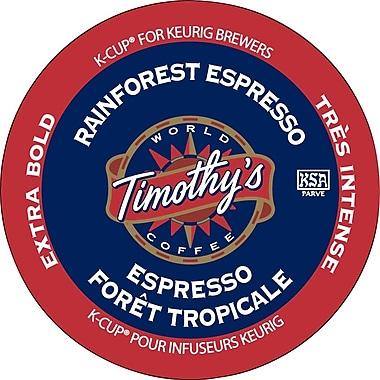 Timothy's - Recharges K-Cup, mélange espresso Forêt Tropicale, paq./24