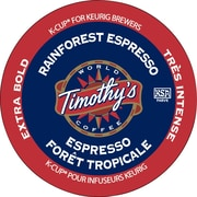 Timothy's Rainforest Espresso Coffee K-Cup Refills, 24/Pack