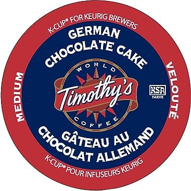 Timothy's - Recharges K-Cup, café gâteau au chocolat allemand, paq./24
