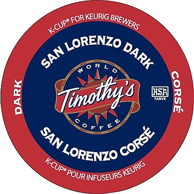 Timothy's - Recharges K-Cup, café San Lorenzo, paq./24