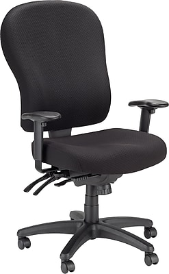 Tempur-Pedic Ergonomic Fabric Mid-Back Office Chair, Black, Fixed Arm (TP4000)