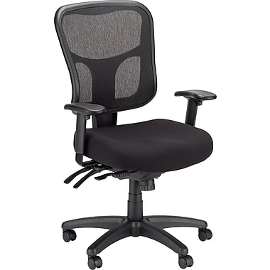 Tempur Pedic TP8000 Mesh Computer And Desk Office Chair, Black, Fixed Arm (