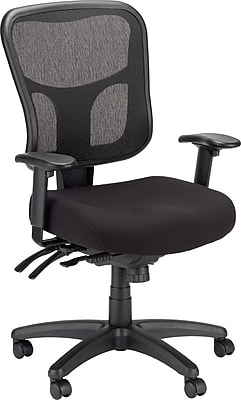 Tempur-Pedic Ergonomic Mesh Mid-Back Office Chair, Black, Adjustable Arms (TP8000)