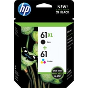 HP 61XL/61 High Yield Black and Standard Tricolor Ink Cartridges Multipack (CZ138FN#140)