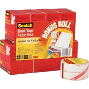 "Scotch® Book Tape Value Pack, 3"" Core, Clear, Multi-Size Rolls, 8/Pk"