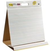 "Post-it® Super Sticky 20""x23"", Table-top Easel Pad, White with Faint Blue Lines"