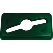 "Rubbermaid Slim Jim® Single Stream Recycling Lid for Slim Jim® Containers, Dark Green, 5 2/5""H x 12 1/10""W x 21 1/10""L"