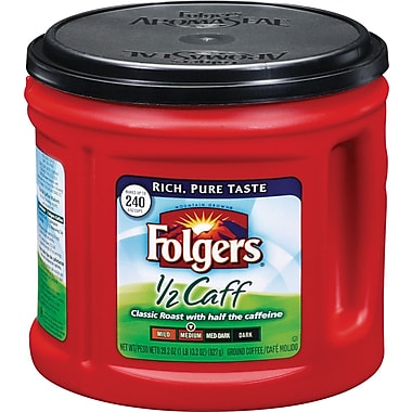 Folgers® Classic Roast 1/2 Caff Ground Coffee, 29.2 oz. Can