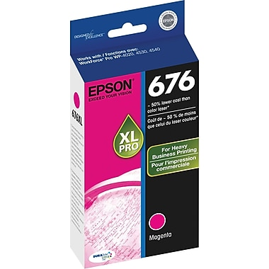 Epson 676XL Magenta Ink Cartridge (T676XL320), High Yield