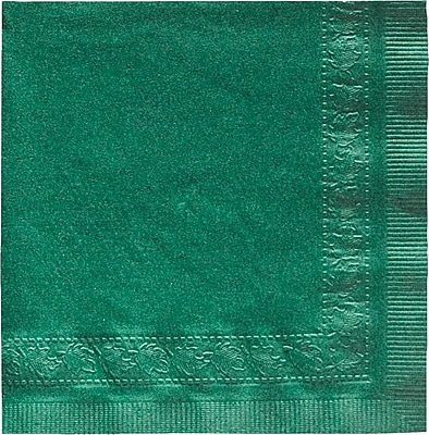 Hoffmaster Beverage Napkin, Hunter Green