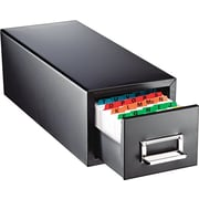 """MMF Steelmaster Index Card File, Black, Holds 5"""" x 8"""" Cards, 1,500 Card Capacity"""