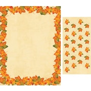 Great Papers® Holiday Stationery Painted Maple Leaves, 80/Count