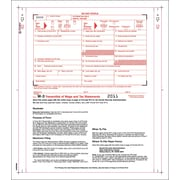 "TOPS™ W-3 Tax Form, 2 Part, White, 9 1/2"" x 11"", 100 Forms/Pack"