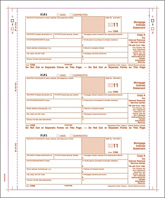 TOPS® 1098 Tax Form, 3 Part, White, 9